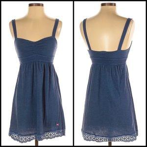 VS PINK Navy Eyelet Lace Trim Mini Dress Nightie